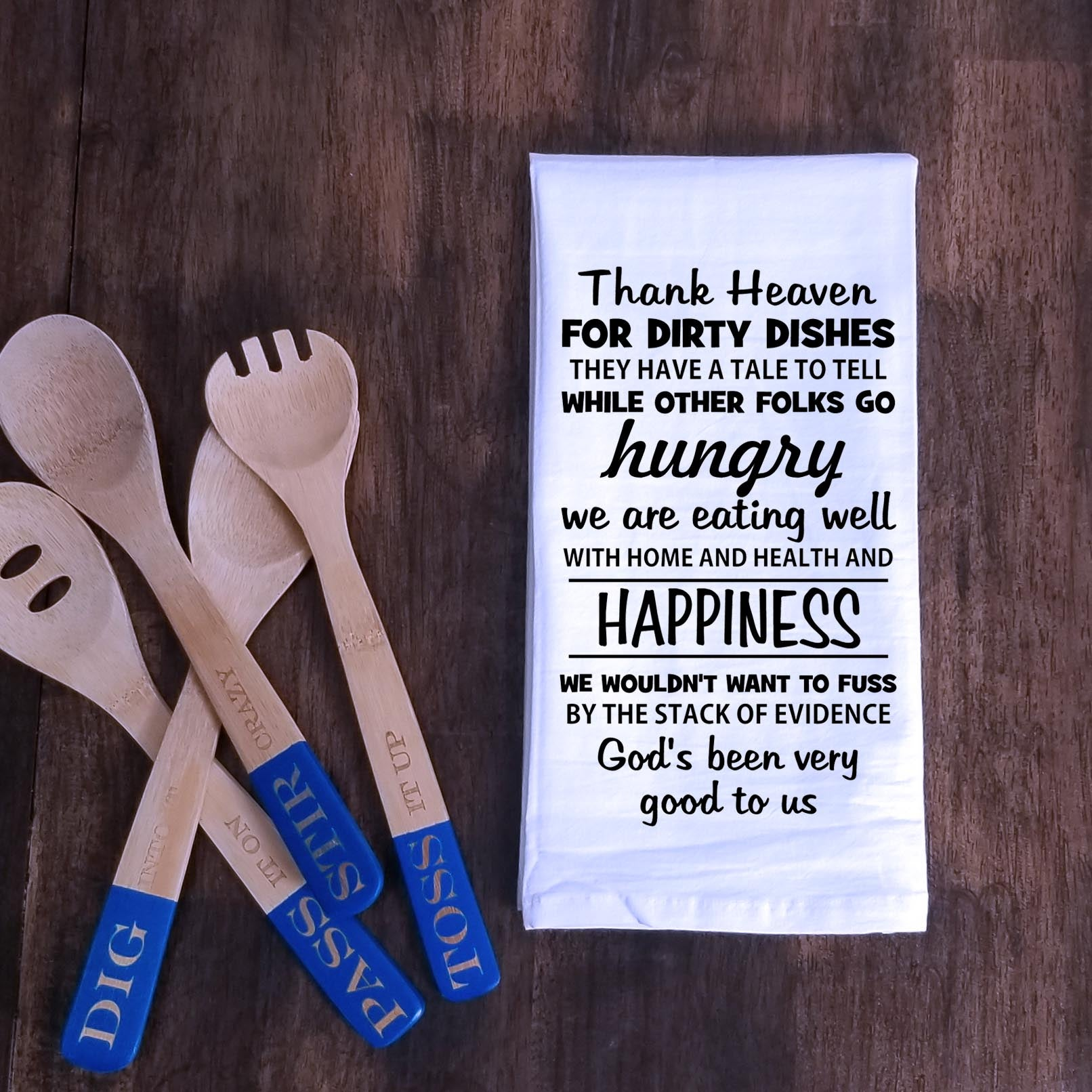 Dirty Dishes Prayer Tea Towel