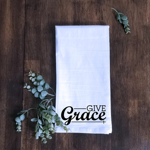 Give Grace Tea Towel