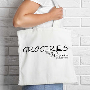 Groceries or Wine Tote Bag