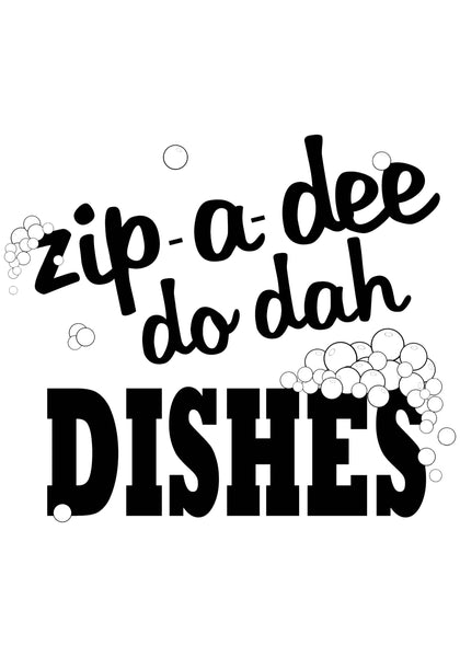 Zip-a-dee do dah Dishes Tea Towel