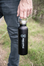 Black Forever Bottle, 750ml Stainless Steel, Double walled Drink Bottle