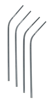 Silver coloured, Stainless Steel Reusable Straw, 6mm set of 4, plastic free
