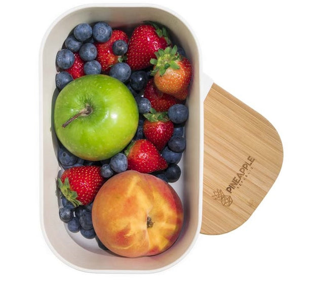 Large, Bamboo Fibre and Biodegradable lunch box, eco friendly, plastic free, food storage
