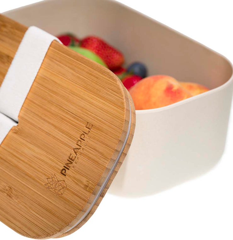 Twin Pack, Bamboo Fibre and Biodegradable lunch box, eco friendly, plastic free, food storage
