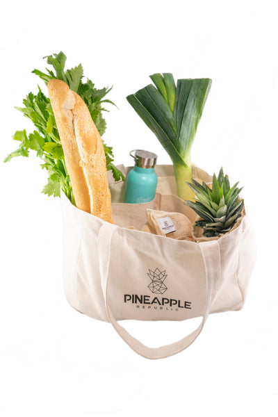 Large Shopping Tote with Interior Pocket Separators