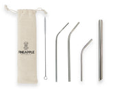 Silver Stainless Steel Reusable Eco Straws