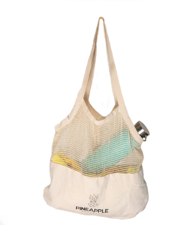Large Mixed Mesh Shopping Tote