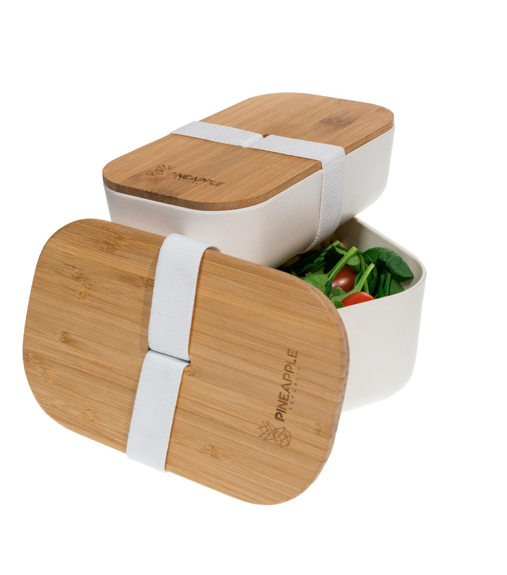 Twin Pack Bamboo Fiber Lunch Boxes