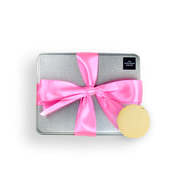 Luxury Shortbread Gift Tin - Pink  - The Shortbread Company