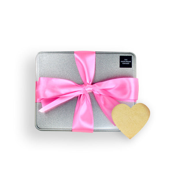 Luxury Heart Shortbread Gift Tin - Pink  - The Shortbread Company