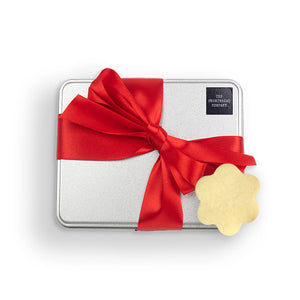 Luxury Flower Shortbread Gift Tin - Red  - The Shortbread Company