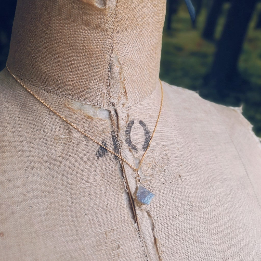 Labradorite Shard Necklace