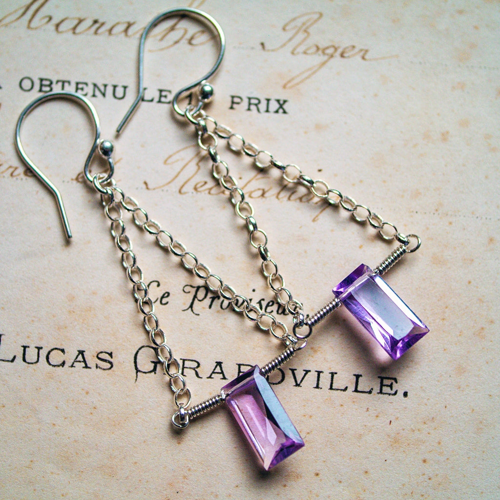 Leading Lady Earrings ~ Amethyst