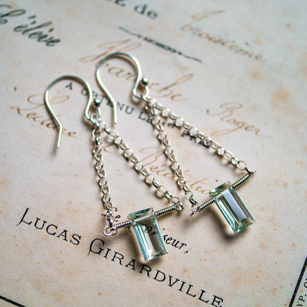 Leading Lady Earrings ~ Green Amethyst