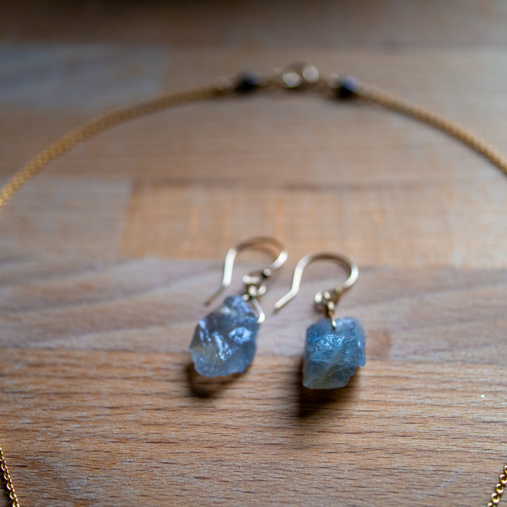 Labradorite Shard Earrings