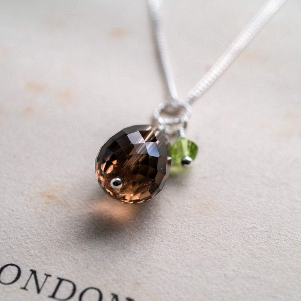 Smoky Quartz and Peridot Pendant