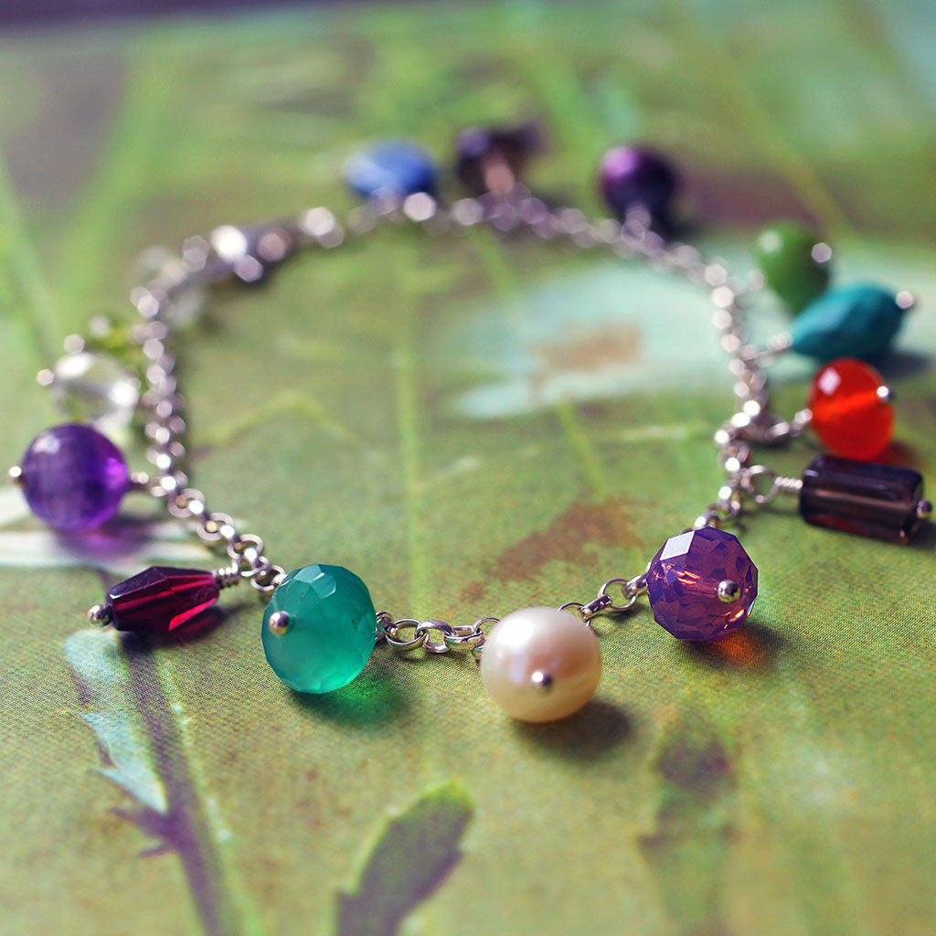 colourful gemstone bracelet