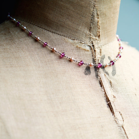 Necklaces - Beloved Garnet Necklace