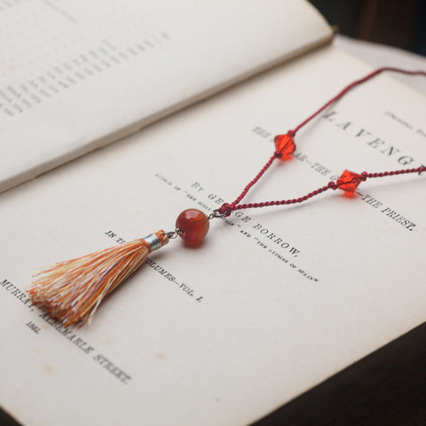 Necklaces - Talisman Tassel Necklace