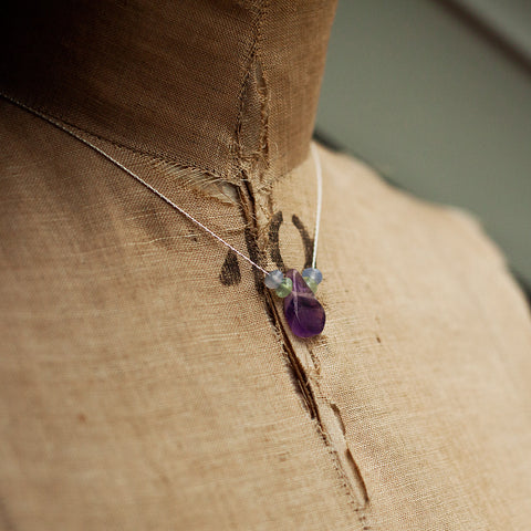 Necklaces - Tyrian Purple Necklace