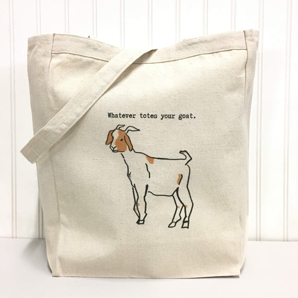 Whatever Totes Your Goat Tote Bag by Things Uncommon