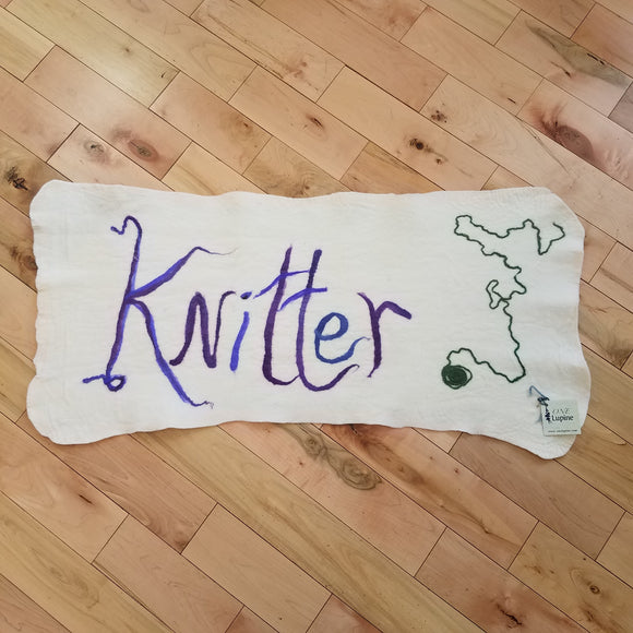 maine-yarn-fiber-supply - Knitter Meditation Mat - One Lupine Felted Runners