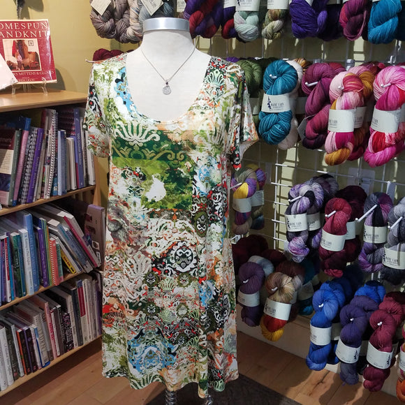 Short sleeve Lucy dress by Salaam Clothing - Maine Yarn & Fiber Supply