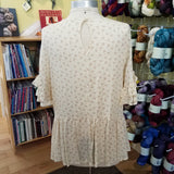 Cream & Ruffles Top by Veveret - Maine Yarn & Fiber Supply