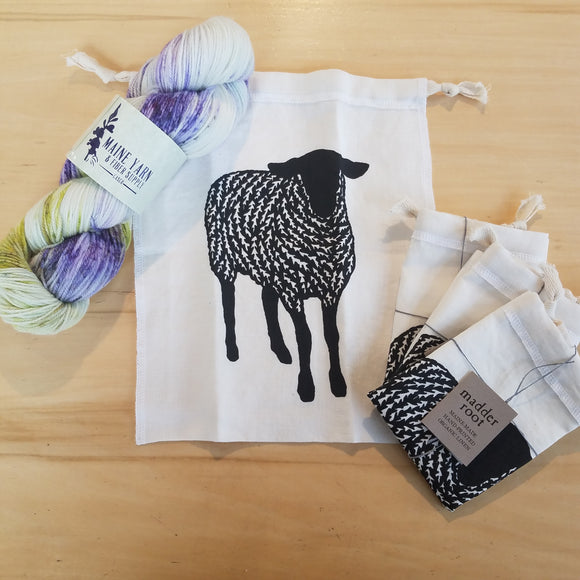 Sheep, Small Project Bag by Madder Root
