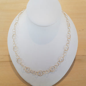 Gold Vermeil Multi Circle necklace in 18in