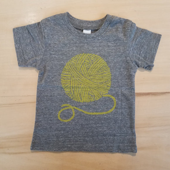 Yellow Yarn Ball Baby Tee by Madder Root
