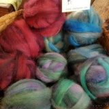 Hand Dyed Maine Raised Coopworth/Romney Roving