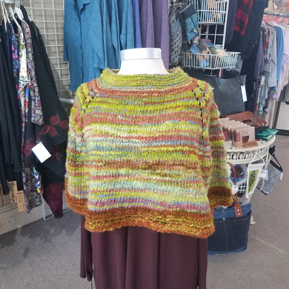 Wearable Art - One of a Kind Hand Knit Cape by Maine Yarn & Fiber Supply