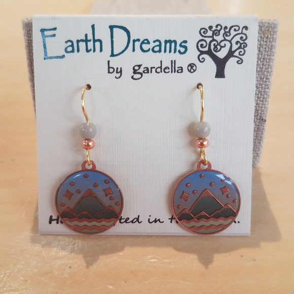 Mountains Majesty earrings by Earth Dreams Jewelry
