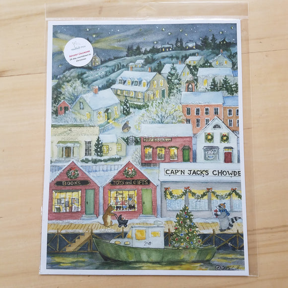Coastal Advent Calendar by Woodfield Press