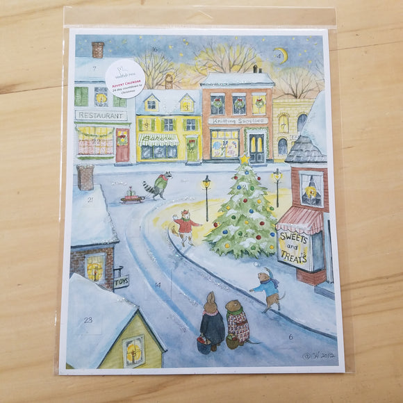 Town Advent Calendar by Woodfield Press