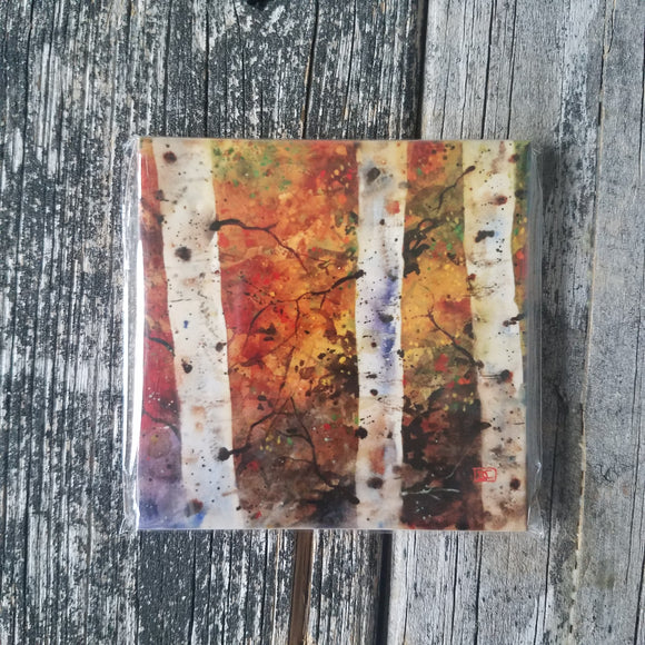 Autumn Birch Coaster by Dean Crouser