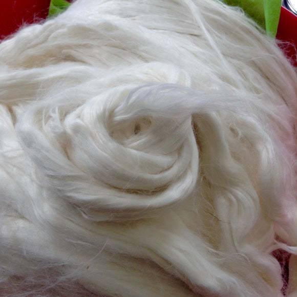 Undyed Bamboo Roving 4oz - Maine Yarn & Fiber Supply