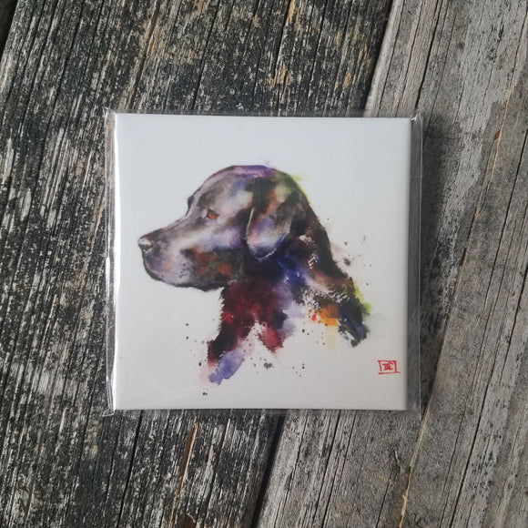 Black Lab Coaster by Dean Crouser