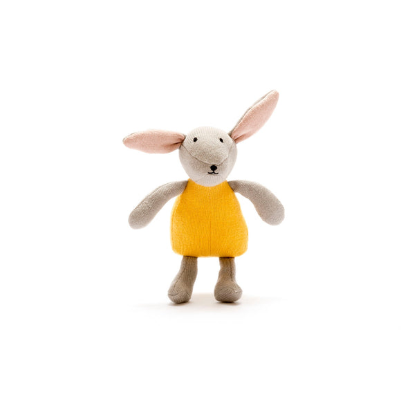 Bunny with Mustard Dress Soft Toy from Best Years Ltd