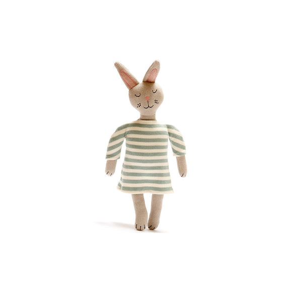 Bunny with Striped Dress Soft Toy from Best Years Ltd