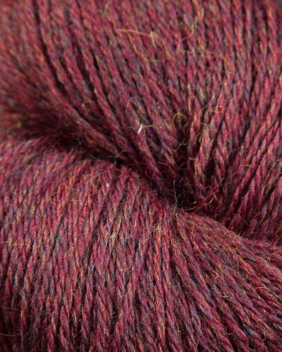 The Heather Line from JaggerSpun: Burgundy