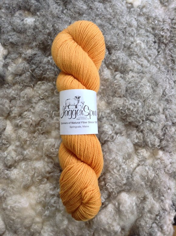 The Green Line From JaggerSpun: Butterscotch - Maine Yarn & Fiber Supply