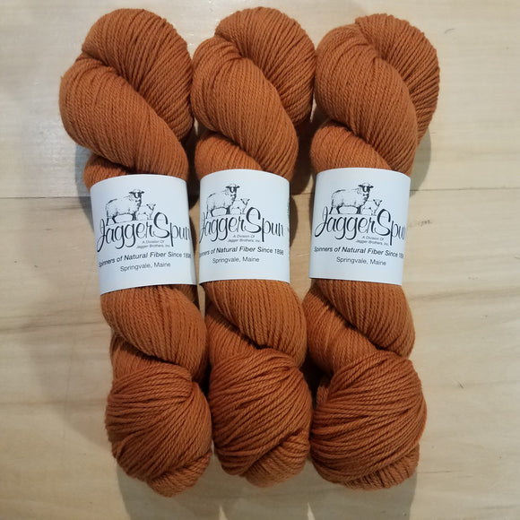 The Green Line From JaggerSpun: Caramel - Maine Yarn & Fiber Supply