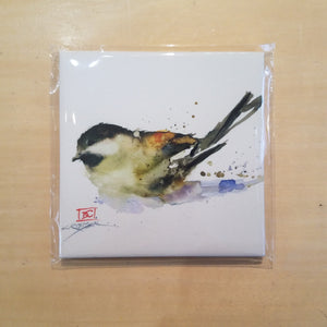 Chickadee Coaster by Dean Crouser