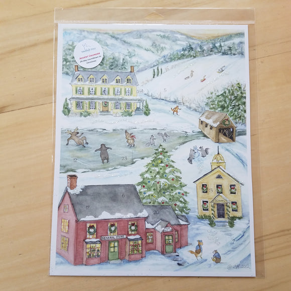 Country Advent Calendar by Woodfield Press