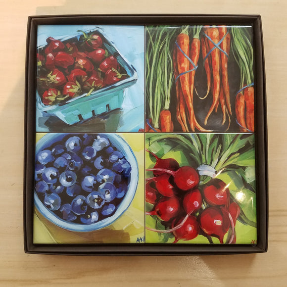 Garden Fresh Coaster Set by Art by Alyssa