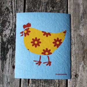 Gertie Chicken - Swedish Dish Cloths by Three Blue Birds