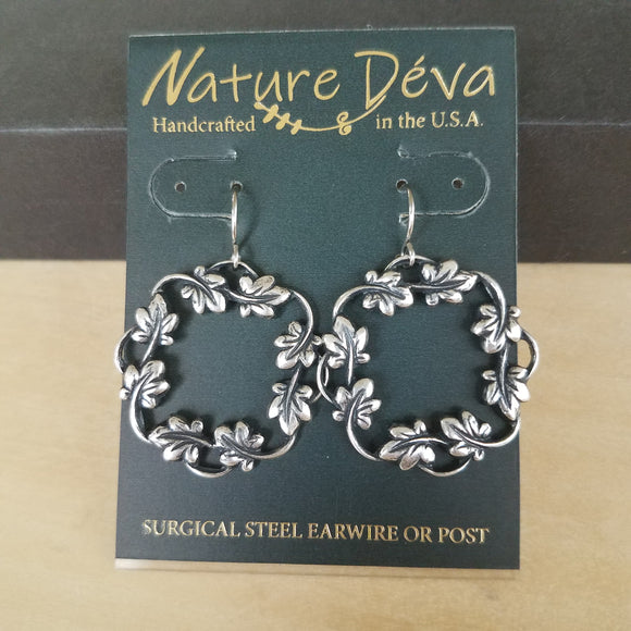 Ivy Hoop earrings by Nature Deva Jewelry