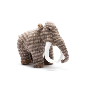 Knitted Woolly Mammoth Soft Toy from Best Years Ltd